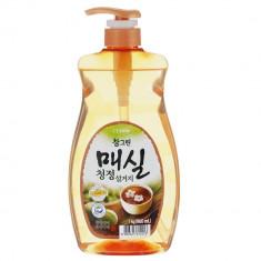 Лион CJ Сhamgreen средство для мытья посуды Японский абрикос (насос-дозатор)960 мл LION
