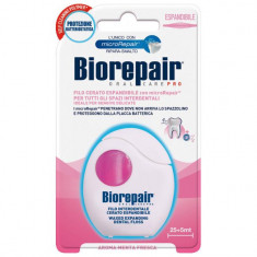 Biorepair Расширяющаяся вощеная зубная нить для чувствительных десен Waxed Expanding Floss 30м