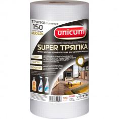 Unicum Супер тряпка с тиснением вафля Gold 150шт в рулоне черная этикетка