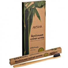Aasha Зубная щетка Бамбуковая средняя