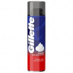 Gillette пена для бритья Classic Clean Чистое бритье 250мл