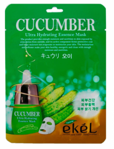 Тканевая маска для лица с экстрактом огурца EKEL Cucumber Ultra Hydrating Essence Mask 25г