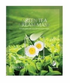 Маска тканевая с зеленым чаем DEOPROCE GREEN TEA CREAM MASK 25г