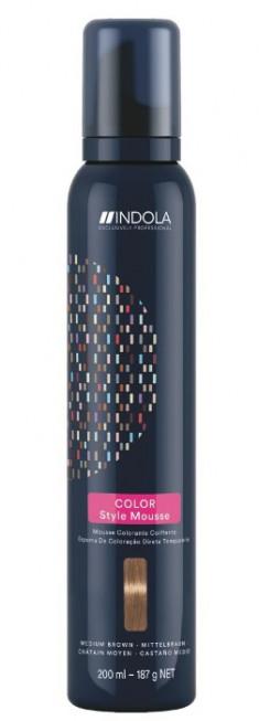 INDOLA Мусс оттеночный для укладки волос, средний коричневый / Color Style Mousse 200 мл
