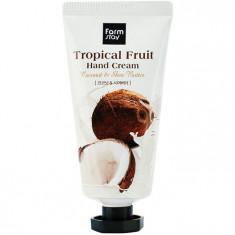 FarmStay Крем для рук Тропические фрукты с кокосом и маслом ши 50мл Farm Stay