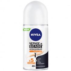 Nivea дезодорант ролик Черное и белое Невидимый Extra 50мл