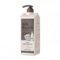 бальзам с керамидами для волос, с ароматом белого мыла milkbaobab cera treatment white soap