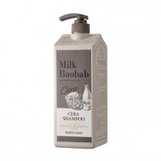 шампунь с керамидами для волос, с ароматом белого мыла milkbaobab cera shampoo white soap