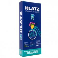 Klatz LIFESTYLE Набор Зубная паста Свежее дыхание 75мл+Комплексный уход 75мл+Зубная щетка средняя