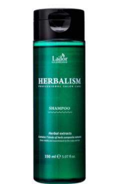 Успокаивающий шампунь против выпадения волос HERBALISM SHAMPOO 150мл La'dor