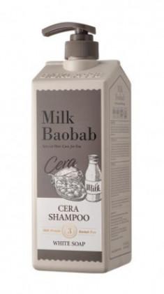 Шампунь с керамидами для волос, с ароматом белого мыла MILK BAOBAB Cera Shampoo White Soap 1200 мл