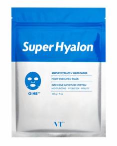 Набор тканевых масок с 8 видами гиалуроновой кислоты VT Super Hyalon 7 Days Mask 7шт VT Cosmetics