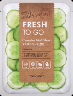 Освежающая тканевая маска для лица с экстрактом огурца Tony Moly Fresh To Go Cucumber Mask Sheet 20г