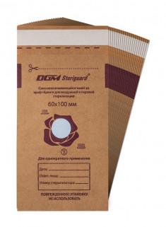 DGM Пакет из крафт-бумаги самозапечатывающийся плоский для медицинской стерилизации / DGM Steriguard 60 х 100 мм 100 шт