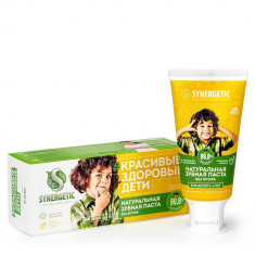 Synergetic Паста зубная для детей с экстрактами липы и ромашки 50г