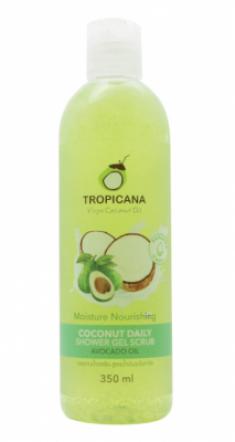 Гель-скраб для душа КОКОС/ МАСЛО АВОКАДО TROPICANA Coconut Daily Shower Gel Scrub Avocado Oil 350 мл