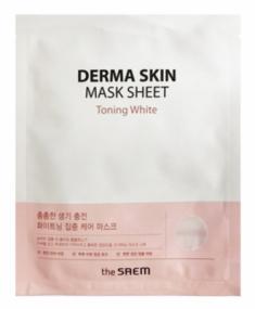 Маска тканевая отбеливающая THE SAEM Derma Skin Mask Sheet Toning White 28мл