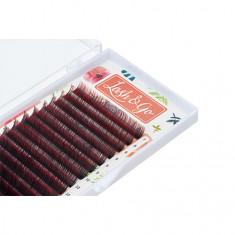 Lash&Go, Ресницы «Омбре» на ленте 0,07/7-14 мм, D-изгиб, красные