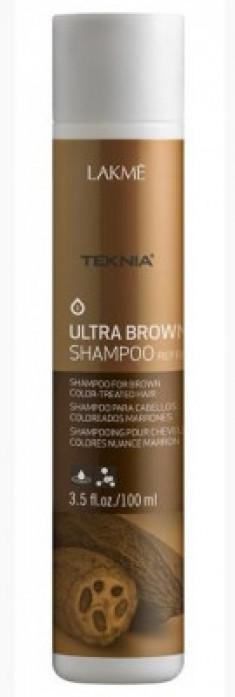 Шампунь для поддержания оттенка окрашенных волос ULTRA BROWN SHAMPOO Кроичневый 100мл LAKME
