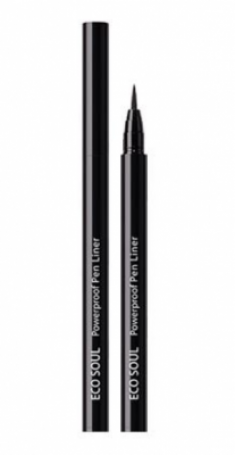 Подводка для глаз THE SAEM Eco Soul Powerproof Pen Liner 01 Black 6г