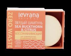 """Шампунь твёрдый восстанавливающий Levrana """"Sea buckthorn & citrus"""" 50г"""