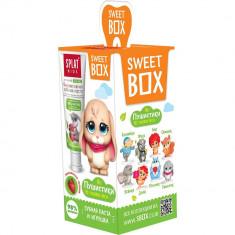 Splat Свит Бокс Зубная паста для детей 6-11лет Земляника-Вишня+игрушка