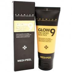 Маска-пленка золотая Medi-Peel Glow 9 24k gold mask pack 100мл