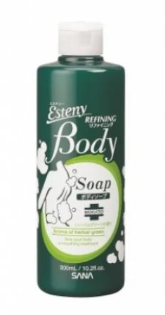 Шампунь для проблемной кожи тела с ароматом свежих трав Sana Body refining shampoo 300мл