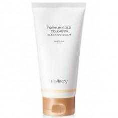 премиальная пенка для лица с золотом и коллагеном elishacoy gold collagen cleansing foam