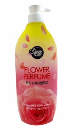 Гель для душа Роза KeraSys Shower mate pink flower 900мл