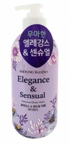 Гель для душа парфюмерная линия Элеганс KeraSys Elegance & sensual perfumed 500мл