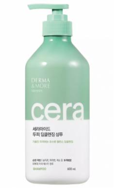 Шампунь для волос Глубокое очищение KeraSys Derma&more cera deep cleansing 600мл