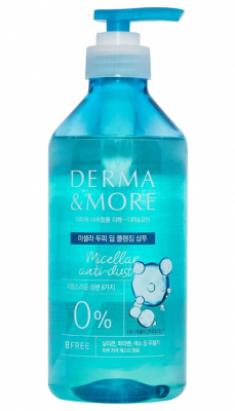 Шампунь для волос мицеллярный KeraSys Derma&more micellar anti dust scalp 600мл