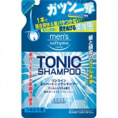 Шампунь для волос с цитрусовым ароматом Kose Men's softymo tonic shampoo 400мл