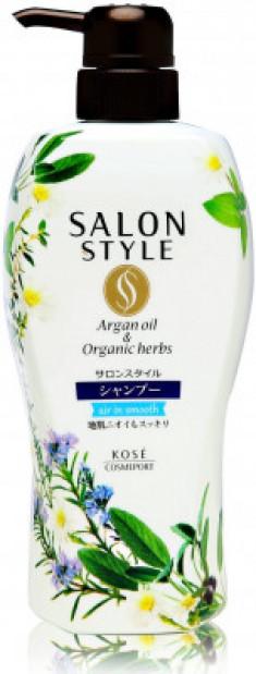 Шампунь для волос разглаживающий с ароматом цветов и трав Kose Salon style air in smooth 500мл