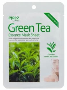 Маска с экстрактом зеленого чая La Miso Green tea essence mask sheet 21г