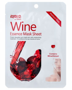 Маска с экстрактом красного вина La Miso Wine essence mask sheet 21г La Soyul