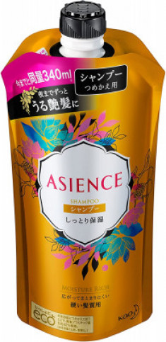 Шампунь для волос увлажняющий KAO Asience moisturizing type shampoo 340мл