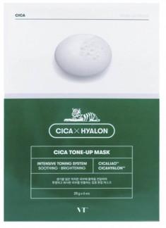 тканевая маска для выравнивания тона vt cosmetics cica tone-up mask