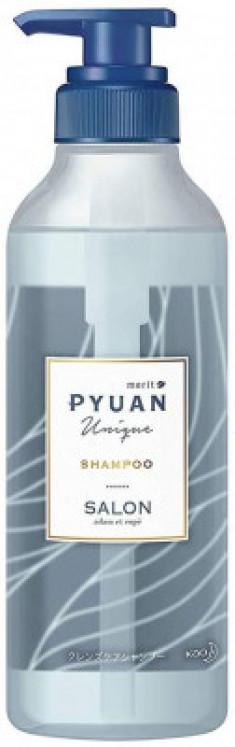Шампунь для волос с ароматом лилии и мыла KAO Merit pyuan unique 425мл