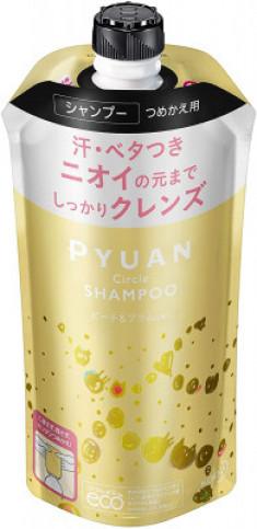 Шампунь для волос с ароматом персика и сливы KAO Merit pyuan circle 340мл