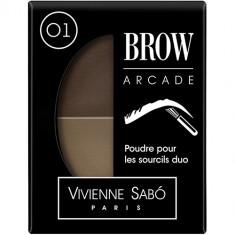Vivienne Sabo Тени для бровей двойные/ Eyebrow shadow Duo/ Poudre pour les sourcils Duo Brow Arcade тон 01