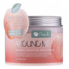 крем-смузи для тела с экстрактом персика welcos around me natural body smoothie crea